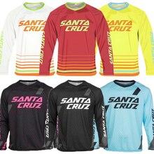 Męska odzież rowerowa z długim rękawem Lycra rower górski koszulka zjazdowa Off Road rower MTB DH T koszula Motocross odzież Vtt Mx