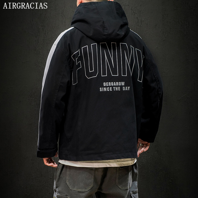 AIRGRACIAS Mens Jackets Coats Sportswear Hooded Spring Male Autumn Cotton M-5XL