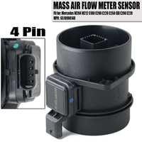 NOVA Maf Sensor De Fluxo De Massa de Ar Para Mercedes benz Para W204 W212 X204 Viano Vito Sprinter W639 5WK97917 UM 651 090 01 48|Medidor de fluxo de ar| |  -