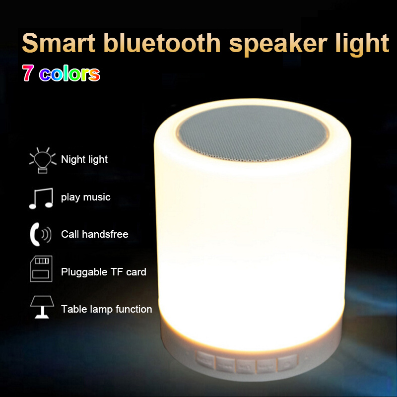 Night Light Bluetooth Speaker Dimmable Color Changing Tap Table Lamp  QP2