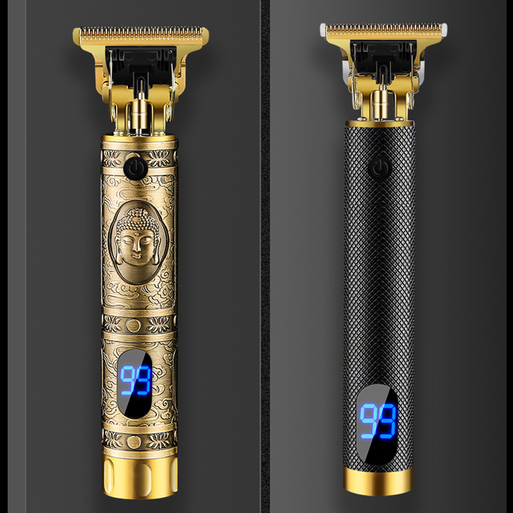 T9 Designer Hair Clippers With LCD Screen |  Professional Zero Gapped T Blade Trimmer