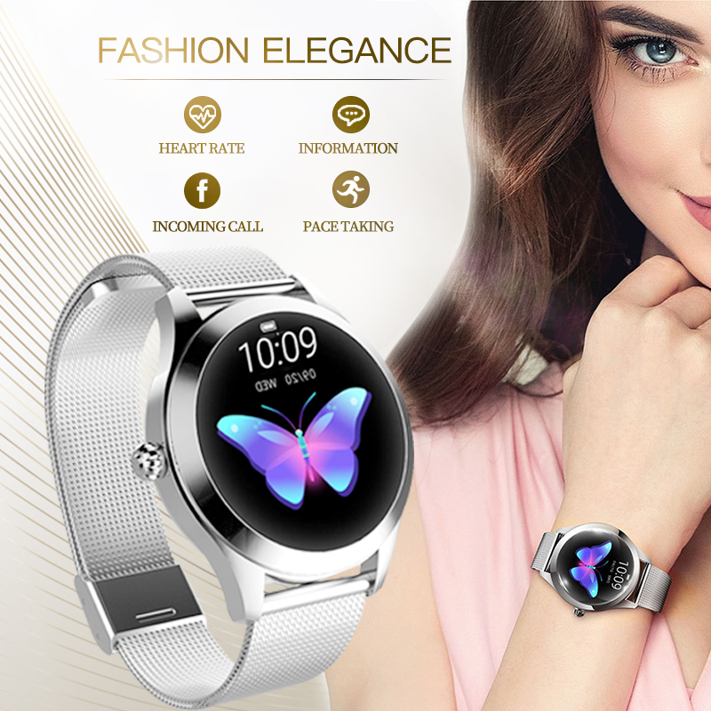 KW10 band IP68 Waterproof Smart Watch Women Lovely Bracelet Heart Rate Monitor Sleep Monitoring Smartwatch Connect IOS Android