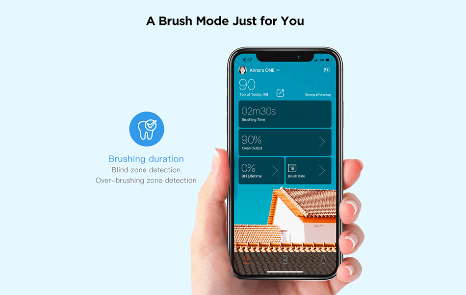 Hbae3ae84236c44d1877e75eeca3df9e3B - Global Version Oclean X Sonic Electric Toothbrush Color LCD Touch Screen IPX7 4 Brush Modes Fast Charge 30 days Tooth Brush