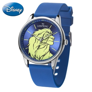 Роскошные Детские Кварцевые часы Lion King Brave Simba для подростков, Disney, водонепроницаемые часы с силиконовым ремешком для мальчиков, модные детские Студенческие часы
