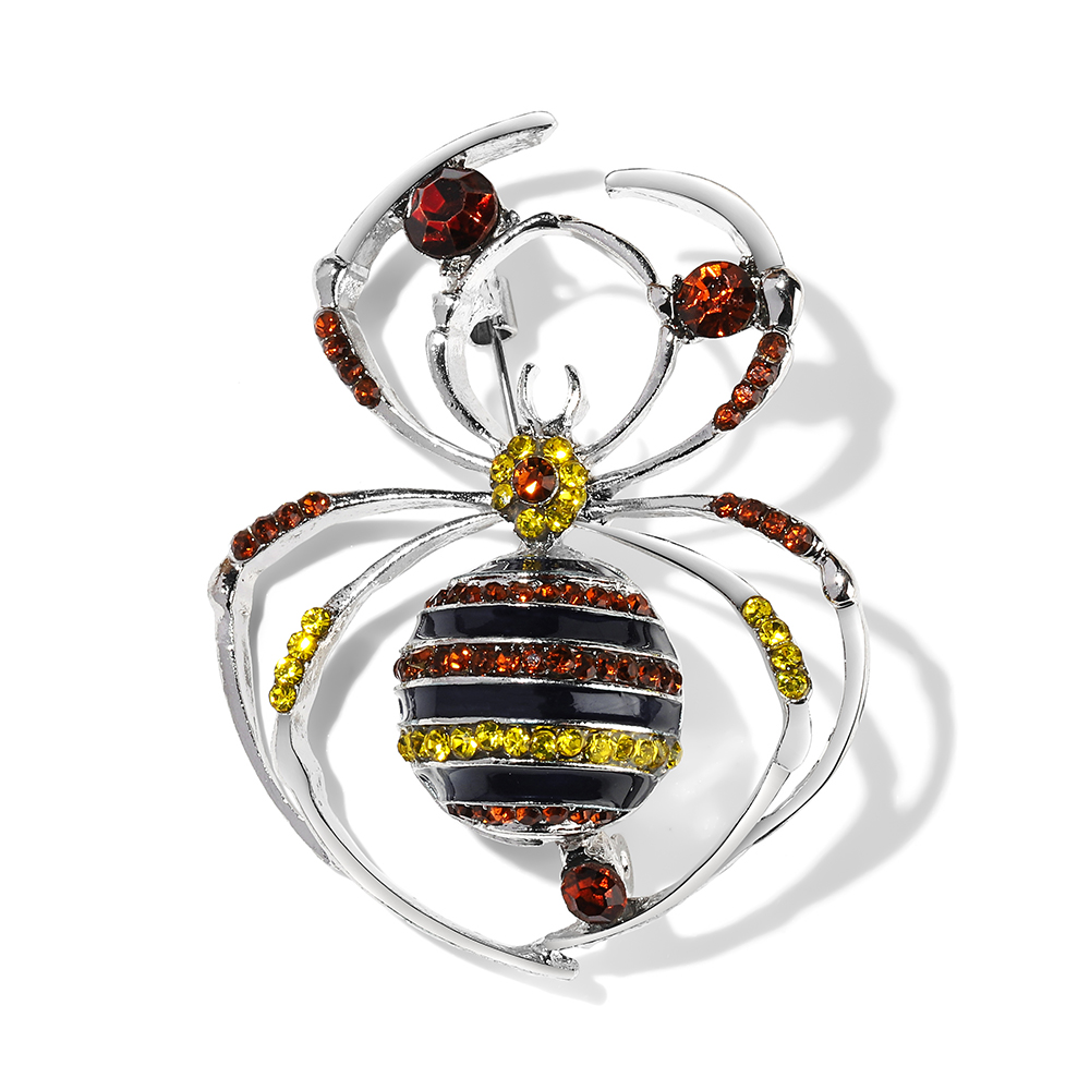 Animal Brooch Pins For Women Bling Rhinestone Bee Spider Brooches Dragonfly Brooches Pin Jewelry Wedding Party Bijoux Best Gift CLOVER JEWELLERY