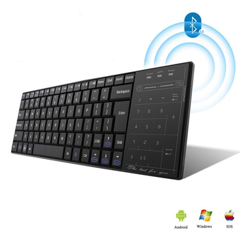 Bluetooth Computer Keyboard Touchpad Wireless Multi Funtion Keybord Touch Mouse Pad PC Office Gamer Keypad For Xiaomi Phone iPad