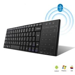 Klawiatura komputerowa Bluetooth Touchpad bezprzewodowa klawiatura wielofunkcyjna klawiatura dotykowa podkładka pod mysz komputerowa klawiatura biurowa dla telefonu Xiaomi iPad