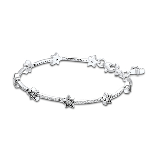 Image 2 - Christmas Celestial Stars Bracelets For Jewelry Making Sterling Silver Jewelry For Woman DIY Fashion Bracelets