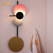 Modern Macaron LED Wall Lamp Nordic Wrought Iron Lamps Creative Background Decorative Wall Lamps  Loft Living Room Wall Lights цена 2017