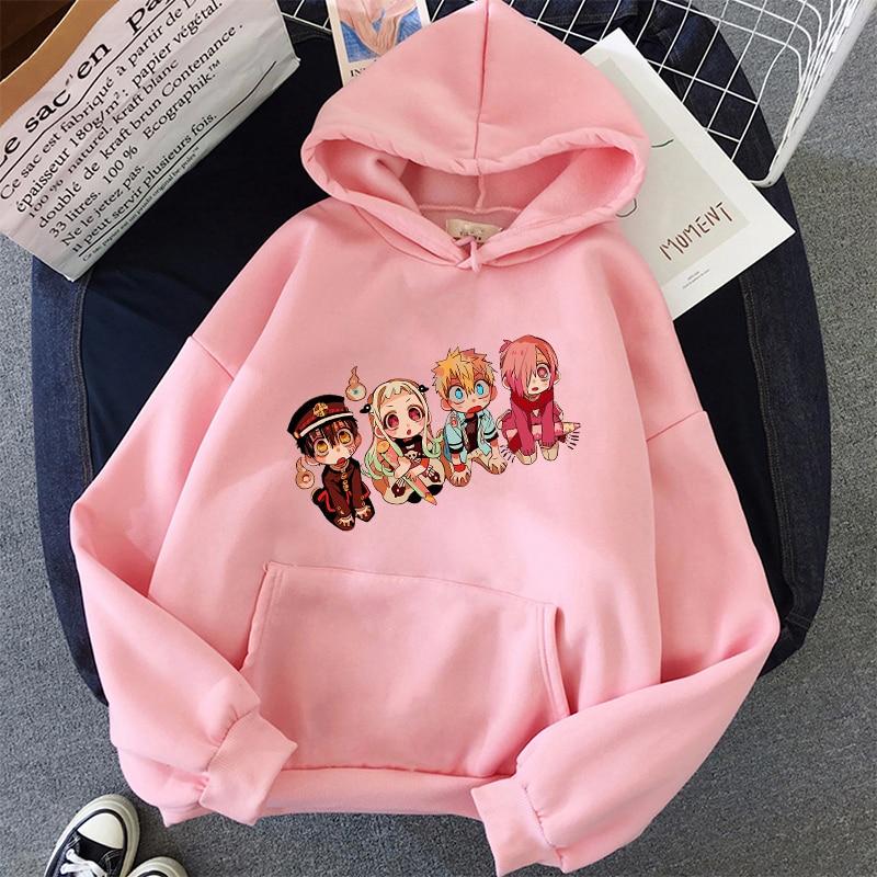 Jibaku Shounen Hanako kun Harajuku Womens Hoodie Fashion Fleece Hoodies Casual Clothes Street Loose Female Sweatshirt 24