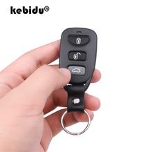 Kebidu klonowanie pilot elektryczny kontroler kopiowania Mini bezprzewodowy przełącznik nadajnika 3 przyciski kluczyk do samochodu 433MHz