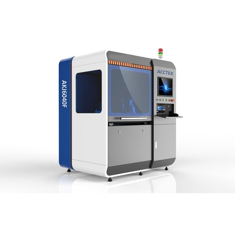 China Jinan AccTek fiber incising machinery 6040 with metal cover