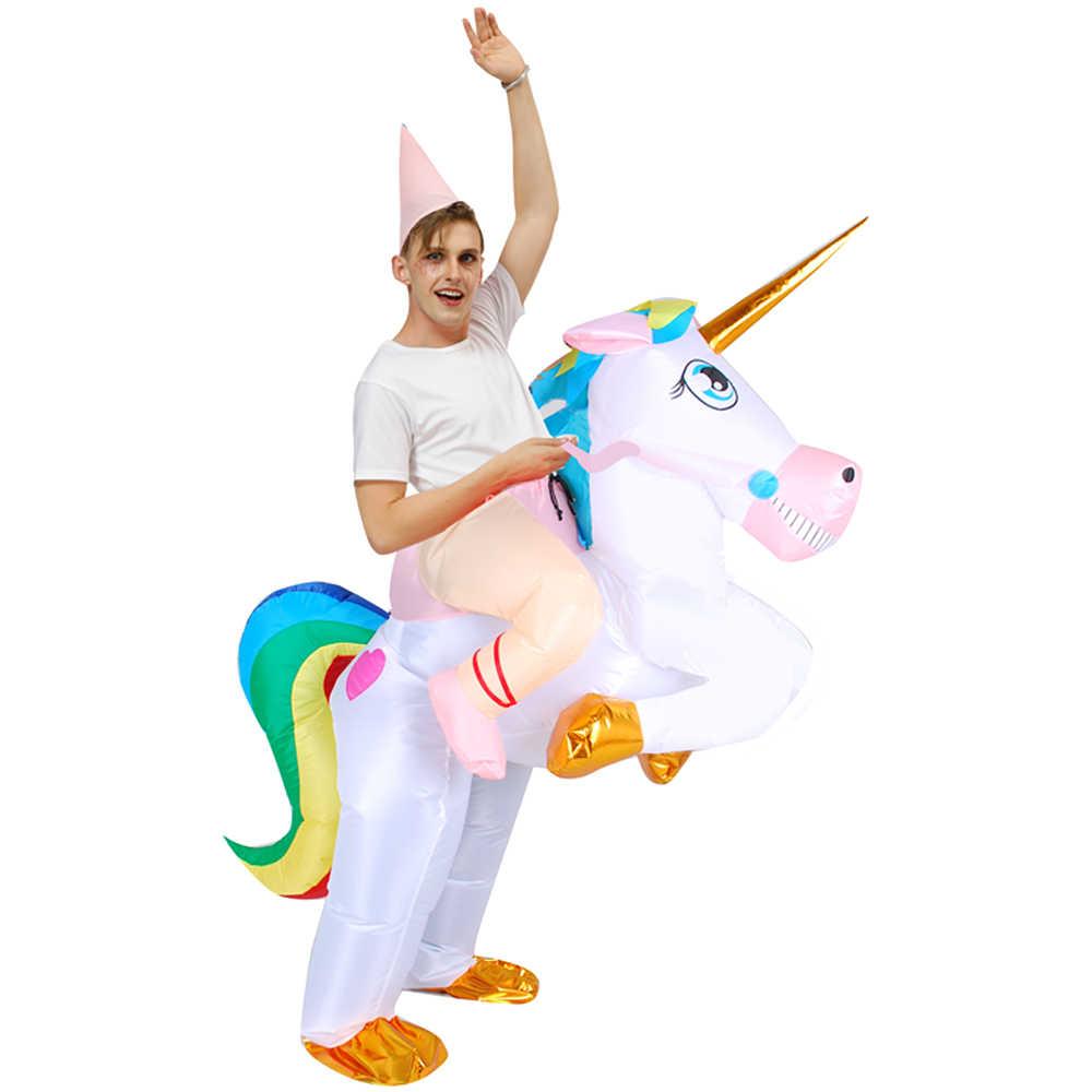 Novo traje de Dinossauro Inflável Alienígena Partido trajes de Sumô terno unicórnio vestido Cosplay disfraz Halloween Fantasias Para crianças Adulto