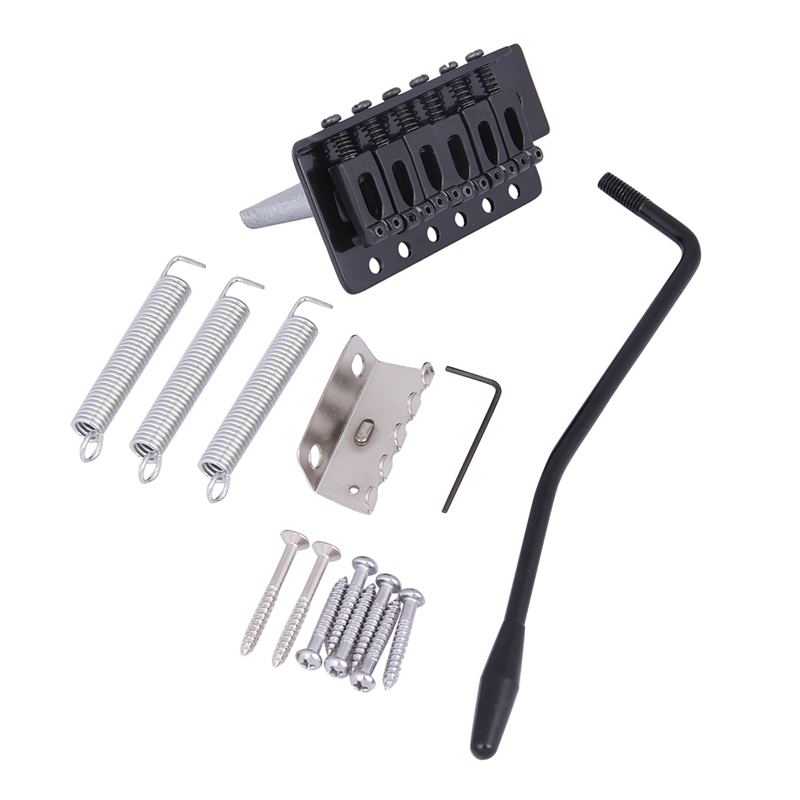 Black New Replacement Standard Tremolo Bridge Set For Strat Electric Guitar Parts And Accessories