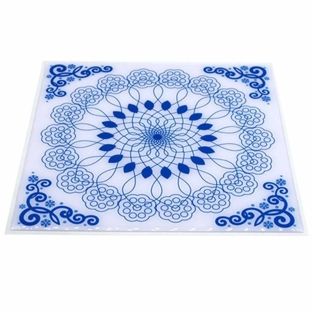200x200 مللي متر الأزرق والأبيض الخزف جدار الفن بلاط مقاوم للماء ملصقات الحمام الطابق الذاتي لاصق الشارات سيراميك الزجاج