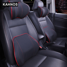 Seat-Cushion Pillow Rest-Massage Memory Car-Cover Neck-Headrest Cotton Vehicular