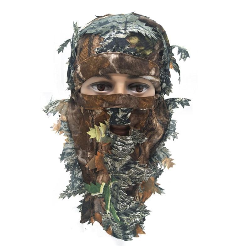 3D Stereo Camouflage Facial Mask Sheet Turkey Hunting Mask Hat Balaclava Full Forest CS Facial Mask Hot - Цвет: B1
