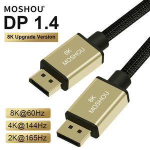 DisplayPort 1.4 Cable 8K 4K HDR 60Hz 144Hz 165Hz Display Port Adapter For Video PC Laptop TV DP 1.4 Mini DP to DP Cable