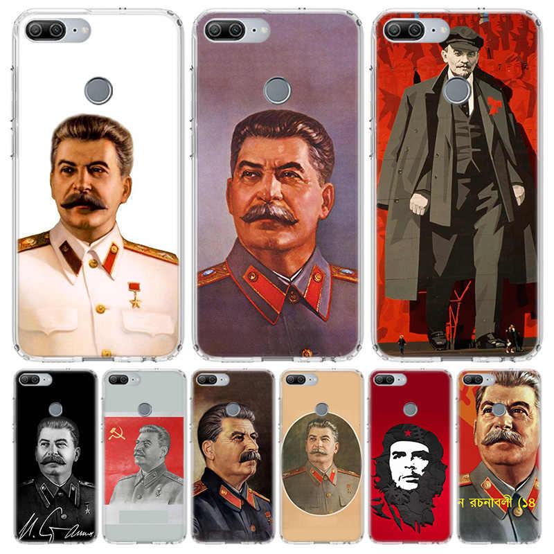 الروسية ستالين السوفياتي غطاء الهاتف حافظة لهاتف huawei Y5 Y6 Y7 Y9 2019 الشرف 8A 8S 8X 7A 7X 9 10 20 لايت برو 10i20i V30 كوكه شل