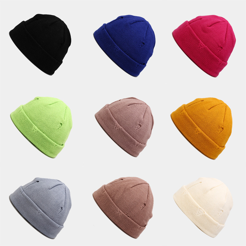 Unisex Hats Knitted Cap Woman Beaines For Winter Breathable Men Gorras Simple Hats Warm Solid Casual Lady Beanies