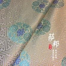 Table-Flag Clothing Sofa-Fabric Brocade Oriental-Style Pillow Curtain Handmade-Material