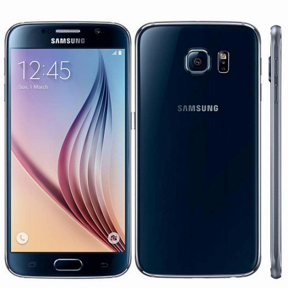 Gebruikt Samsung Galaxy S6-G920F Smartphones 32Gb Rom 4G Lte Android Mobiele Telefoons 5.1Inch Octa Core 16MP Unlocked celulares Global 1