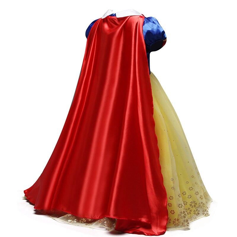 Girls Dress Princess Costume Children Cosplay Party Disfraz Kids Halloween Robe Fille 4