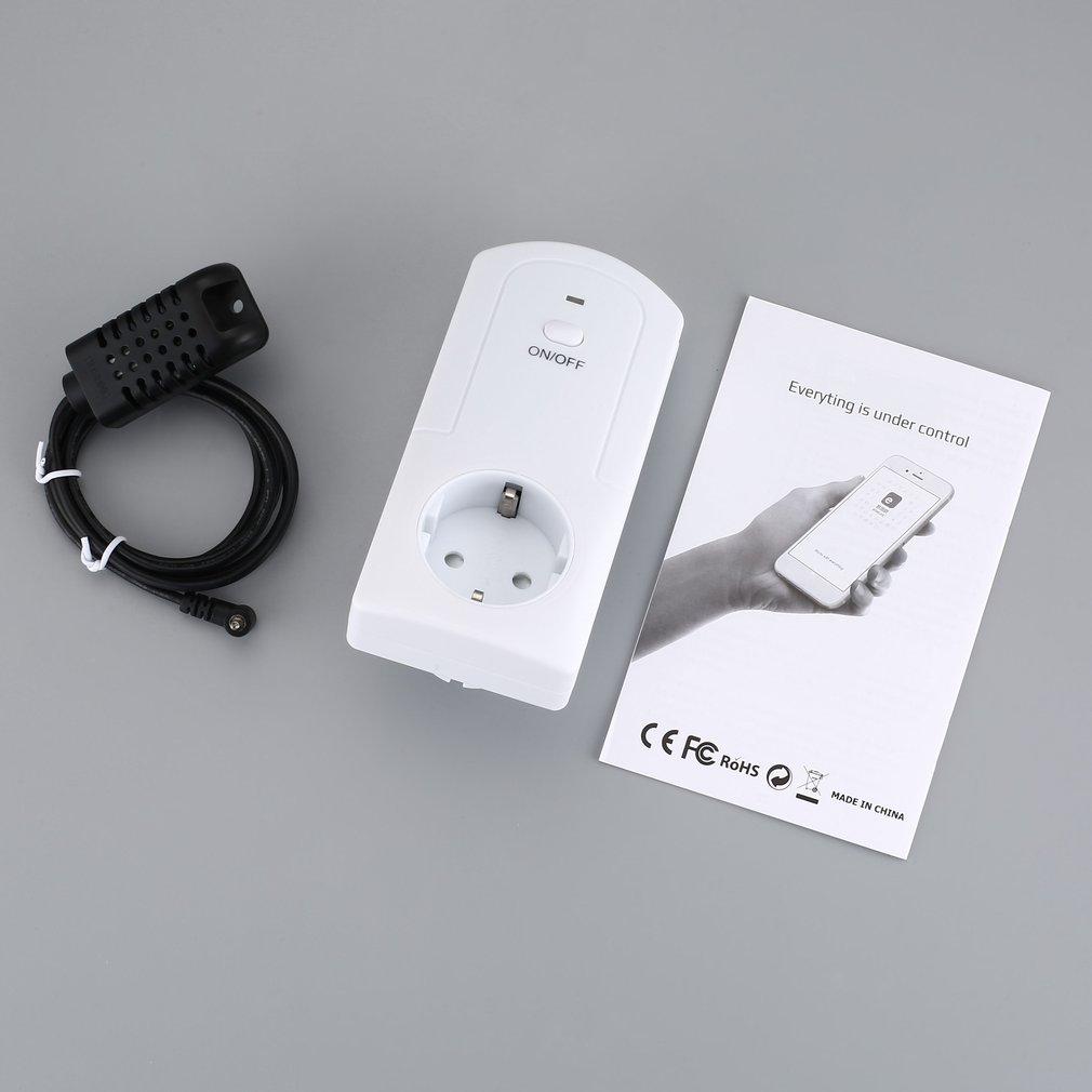 Wifi Wireless Temperature Humidity Thermostat Module App Ts-5000 Smart Remote Control Smart Timing Switch Socket EU Plug