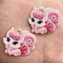 Каваи красочный милый розовый кот плоская задняя часть акриловый