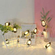 LED nafta Garland światła lampki dekoracyjne ciąg na boże narodzenie wystrój wnętrza domu Xmas Party świąteczne dekoracje do domu tanie tanio HOSPORT Nieregularne CN (pochodzenie) Light String Suche baterii Fairy Lamp for Christmas Lantern Light String 1 6m 5 25ft