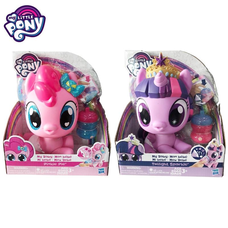 Hasbro My Little Pony Baby Twilight Sparkle Pinkie Pie Feedable Voice Model  Movable Rainbow Pony Child Girl Princess Toy Gift|Blind Box- AliExpress