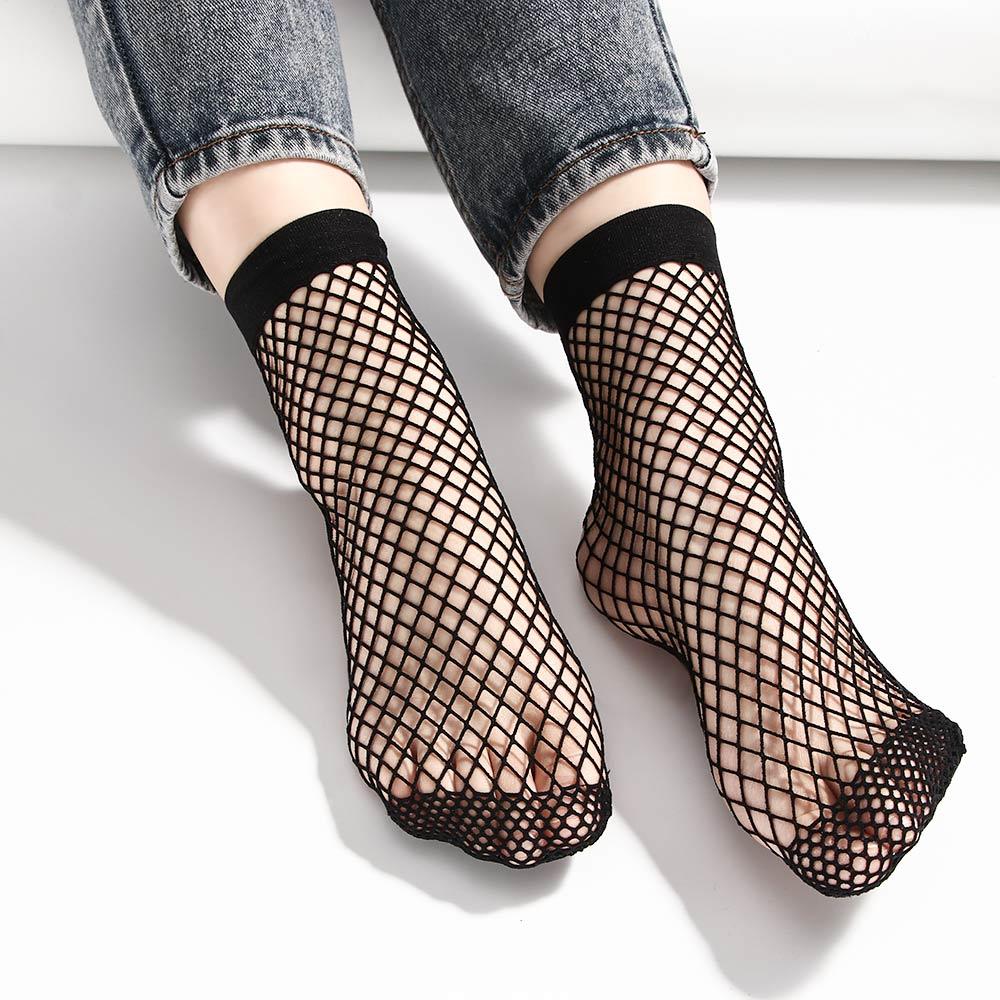 Mesh Lace Fish Net Socks Fishnet Socks Flat Mesh Socks Harajuku Mesh Socks