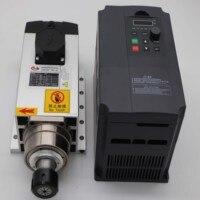 4.5KW square ER32 AC220V air cooling spindle+1 piece 4.5kw inverter
