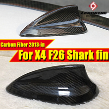 Fit For BMW X4 F26 Antenna Cover X-series Carbon Fiber Black Shark Fin Auto Roof Decorations C-Style 2010-2013