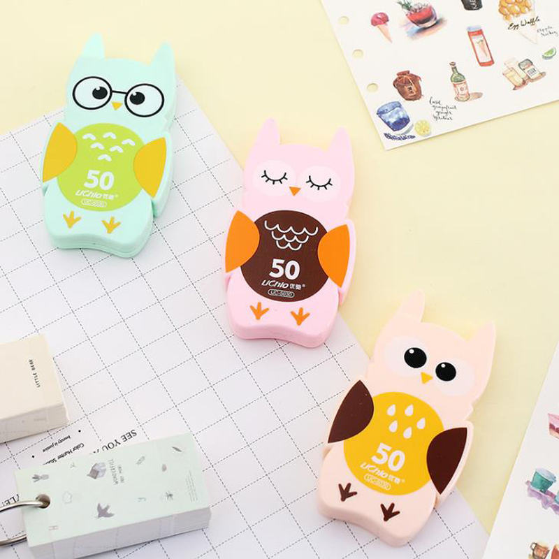 1 Pcs Cartoon Animal Owl Correction Tapes For Kids Students School Supplies Corrector Tools Korean Stationery Papeleria Gift