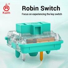 Kailh interruptor de bajo perfil para teclado de Chocolate, RGB, SMD, kailh, teclado mecánico, vástago blanco, interruptor con pulsación manual Robin