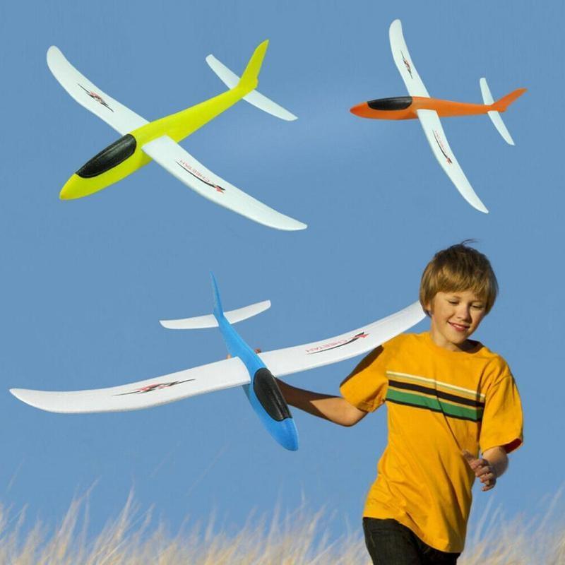 Детский пенопластовый планер, большая модель ручного метательного планера, уличное развивающее оборудование, игрушки в подарок для детей