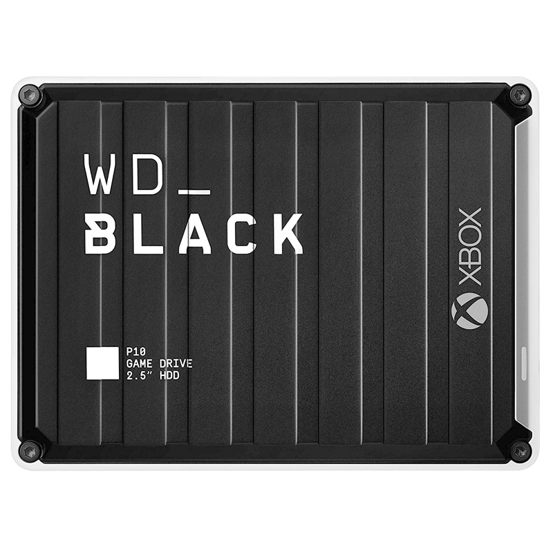 Western Digital P10 Game Drive for Xbox 2TB 4TB 5TB P10 Game Drive, Compatible with PS4, One, PC, Mac External Hard Disk image
