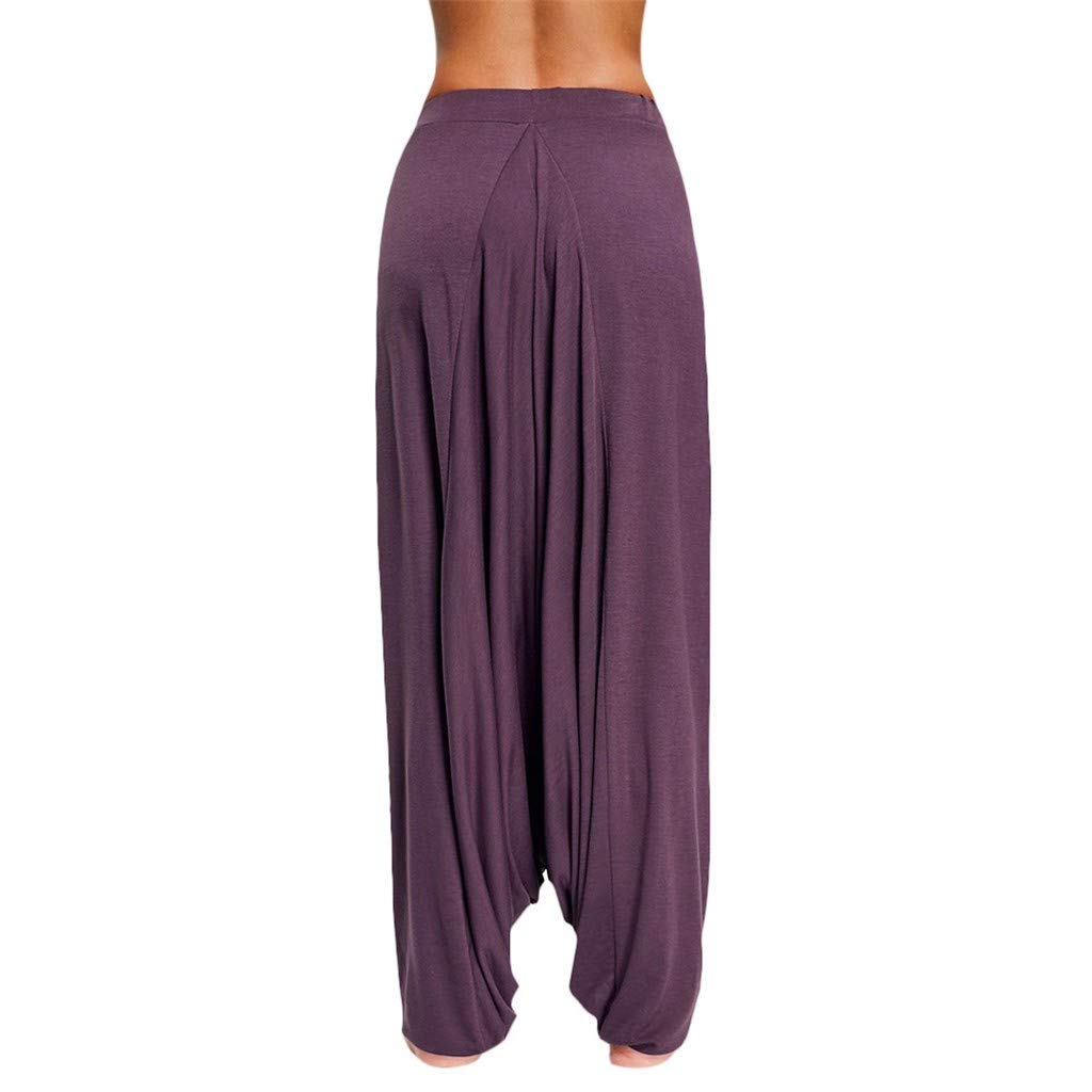 10 Pieces  Women Solid Plus Size Pants Yoga Hanging Ladies Casual Loose -Up Trousers2019 Cargo Pants