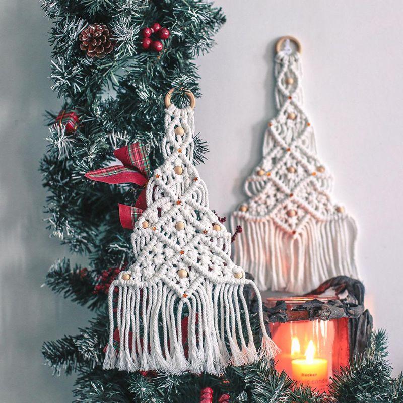 Купить скандинавская ручная работа гобелен из макраме подвеска на рождественскую