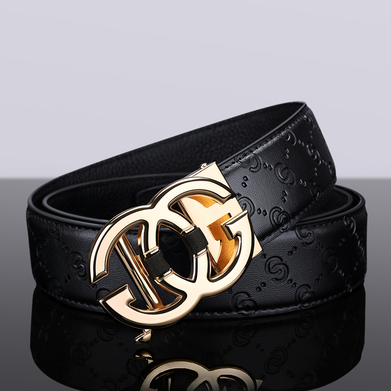 Williampolo Belt Men Top-Quality Automatic-Buckle Metal Designer Male Genuine-Leather