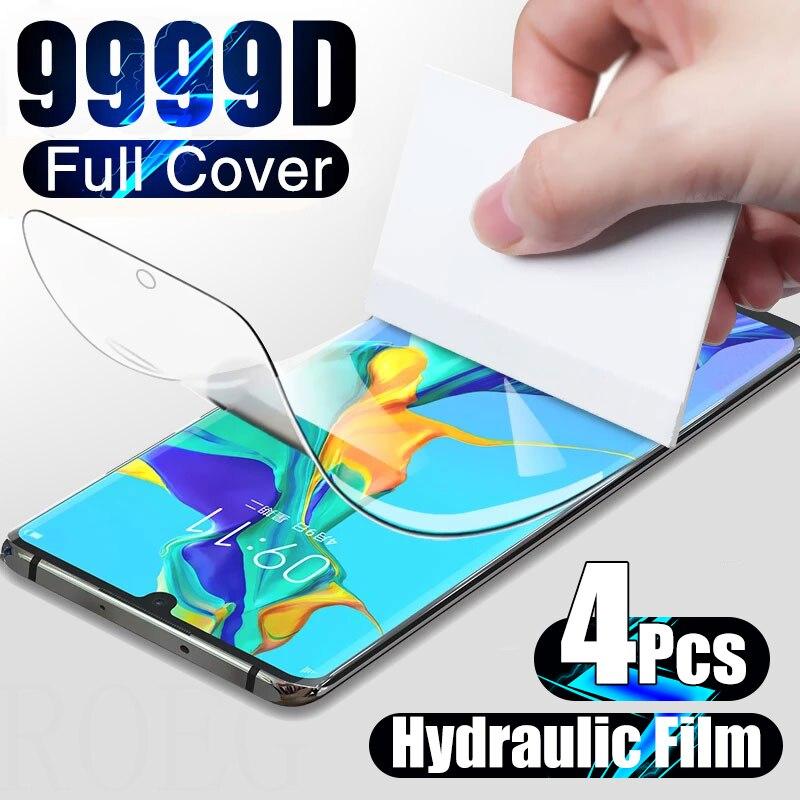 Гидрогелевая пленка 4 шт., протектор экрана для Huawei P20, P30 lite, P40 Pro, полное покрытие экрана для Huawei Mate 20, 30 Lite, 40