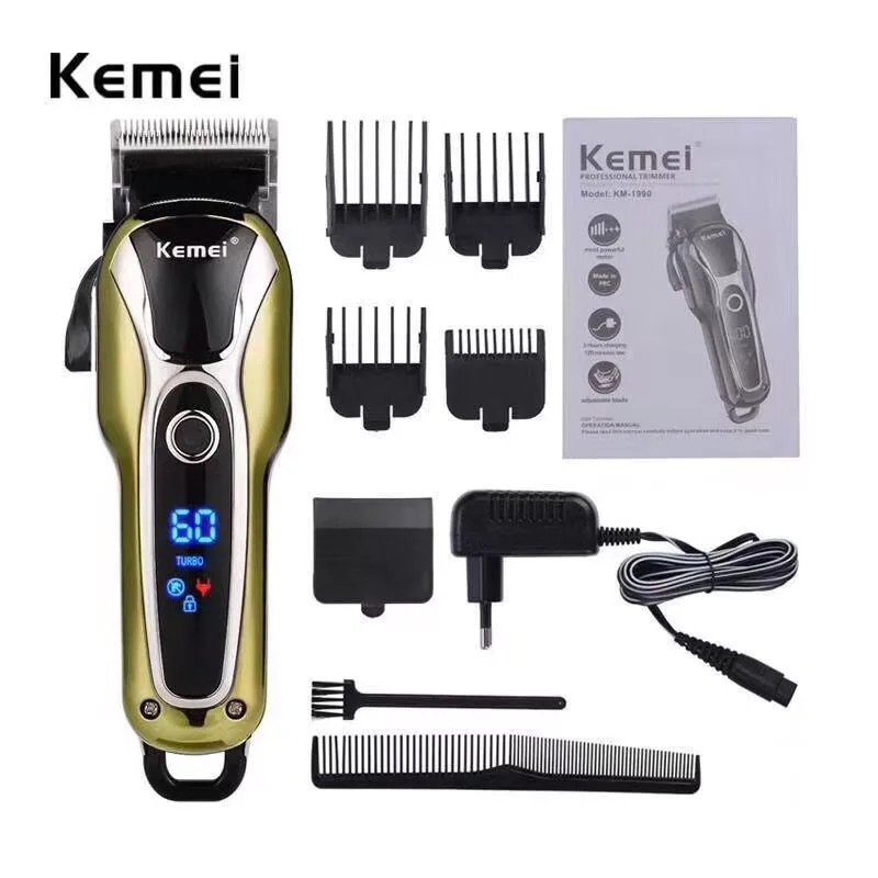 Professional Hair Clipper Rechargeable Trimmer For Men Electric Cutter Hair Cutting Machine LCD Cordless Beard Trimmer Razor 42D