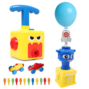 NEW Power Balloon Launch Tower Toy Puzzle Fun Education Inertia Air Power Balloon Car Science Experimen Toy for Children Gift