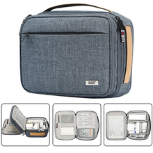 Electronics Organizer,กันกระแทกDouble Layer Cable Organizer Travel Gadgetsดิจิตอลพกพาเครื่องสำอางค์กระเป๋าเก็บกระเป๋าถือ