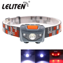 Mini linterna de cabeza, 4 modos, ligera, a prueba de agua, luz LED frontal para acampar, lámpara de cabeza, mini linterna de viaje para caminata, batería AAA