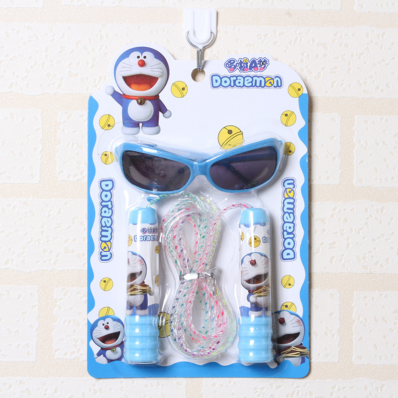 Children Jump Rope New Style Young STUDENT'S Jump Rope Kindergarten Gift Cartoon Eyes Jump Rope Set