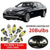 20x White Canbus Car LED Light Bulbs Interior Kit For 2002 2008 BMW 7 Series E65 Error Free Map Dome Glove Box Light Car Styling