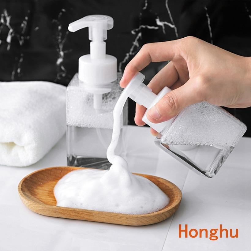 250ml/400ml Clear Foam Pump Bottle Spray Bottles Soap Foaming Mousses Liquid Dispensers Household For Children's Health