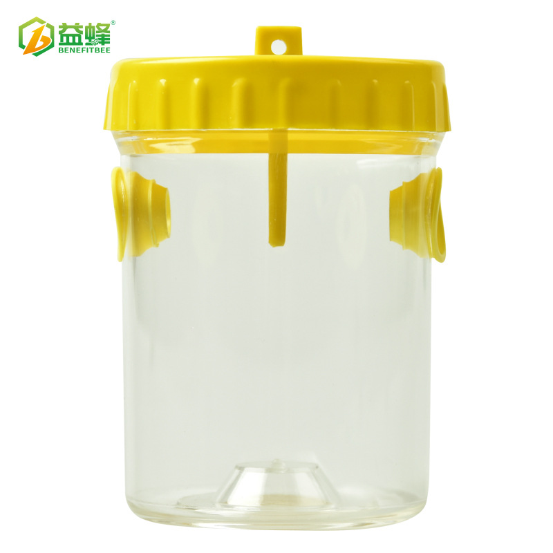 Yi Feng Apiculture Beekeeping Tools Induced Bee Maker (Urceolate) Yellow Cover Transparent Bottle Two Into Bee Mouth Bees